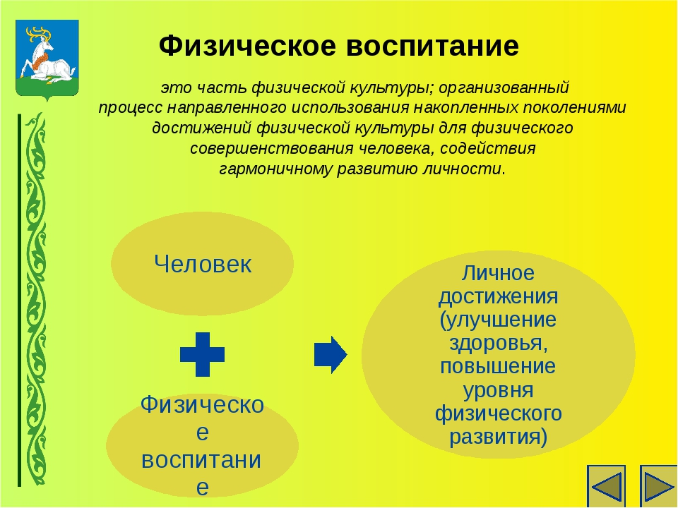 Физическое воспитание это часть физической культуры; организованный процесс н...