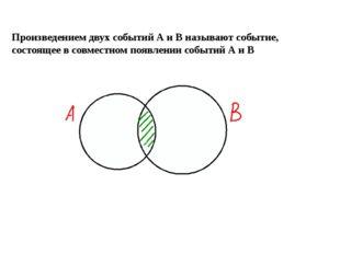 Произведением двух событий А и В называют событие, состоящее в совместном по