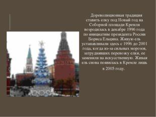 Дореволюционная традиция ставить елку под Новый год на Соборной площади Крем