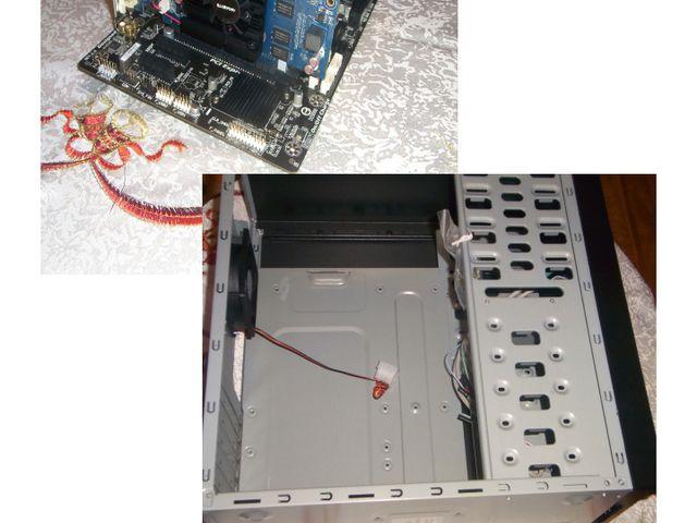 Схема расположения компонентов компьютера Все детали компьютера располагаются...