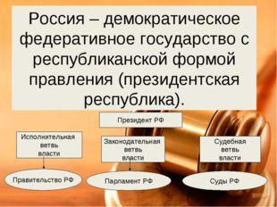 Россия – демократическое федеративное государство с республиканской формой пр