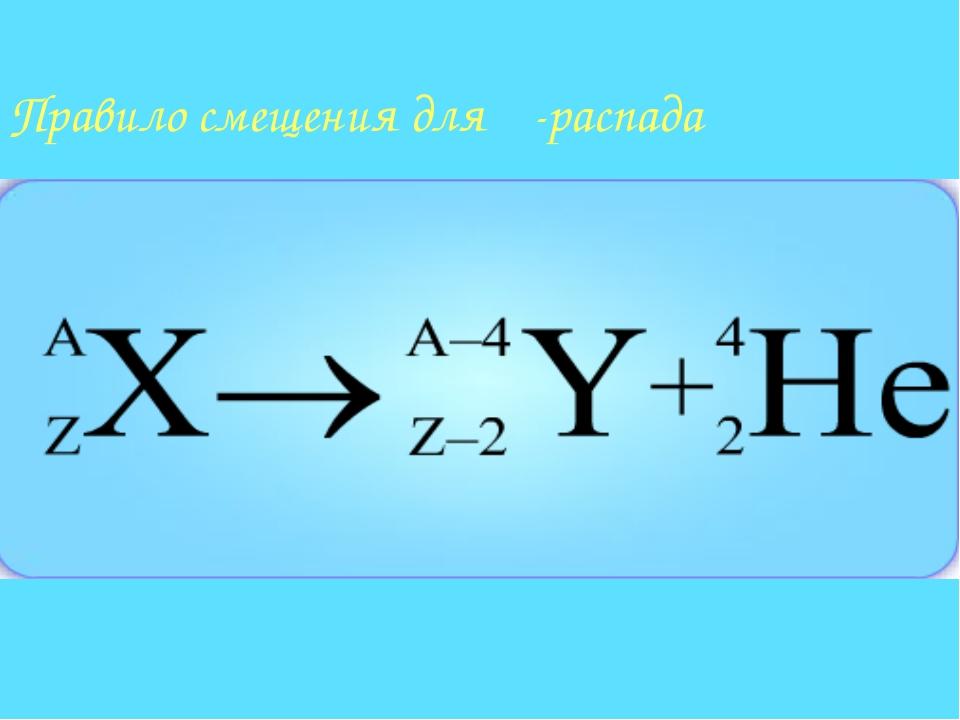 Правило смещения для α-распада