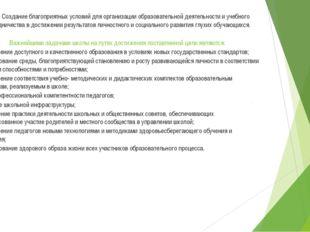 Цель: Создание благоприятных условий для организации образовательной деятельн