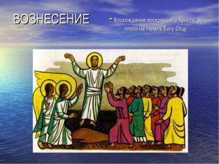 ВОЗНЕСЕНИЕ - Восхождение воскресшего Христа во плоти на Небо к Богу Отцу