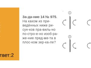1) 1 2) 2 3) 3 4) 4 Задание 14 № 975. На каком из приведённых ниже рисун