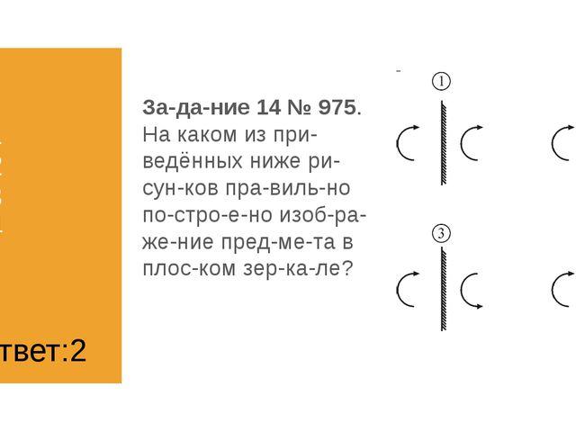 1) 1 2) 2 3) 3 4) 4 Задание 14 № 975. На каком из приведённых ниже рисун...