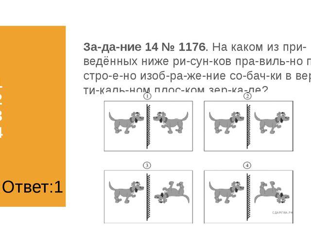 1) 1 2) 2 3) 3 4) 4 Задание 14 № 1176. На каком из приведённых ниже рисун...