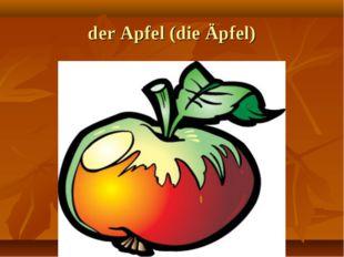 der Apfel (die Äpfel)