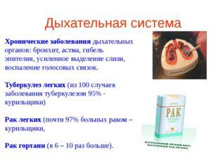 Хронические заболевания дыхательных органов: бронхит, астма, гибель эпителия,