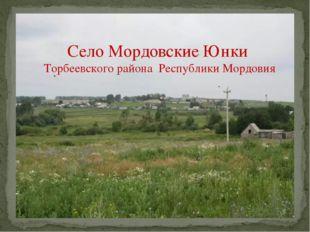Село Мордовские Юнки Торбеевского района Республики Мордовия