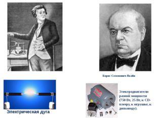 Васи́лий Влади́мирович Петро́в Борис Семенович Якоби Электрическая дуга Элект
