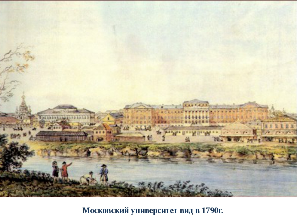 Московский университет вид в 1790г.