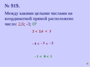 Между какими целыми числами на координатной прямой расположено число: 2,6; -3