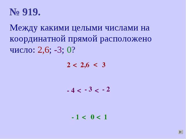 Между какими целыми числами на координатной прямой расположено число: 2,6; -3...