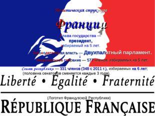 Политическая структура Франции (Логотип Французской Республики) Глава госуда