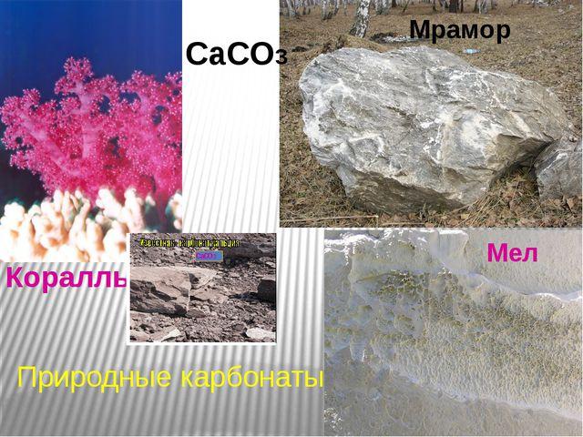 Кораллы Мел Мрамор Природные карбонаты CaCO3