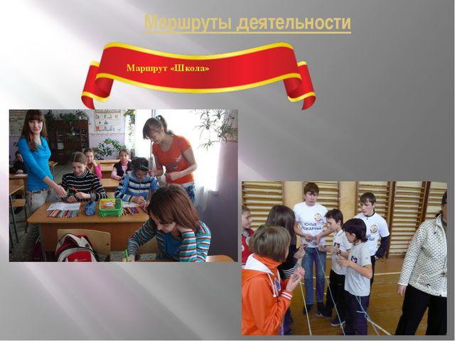 Маршруты деятельности Маршрут «Школа»