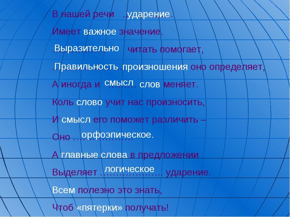 В нашей речи ……………. Имеет важное значение. …………….. читать помогает, ………………….п...