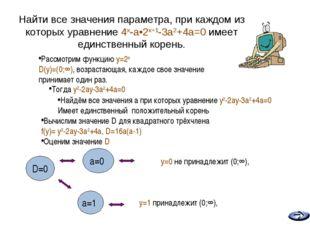 * Найти все значения параметра, при каждом из которых уравнение 4x-a•2x+1-3a2