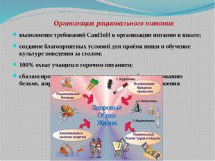 Организация рационального питания выполнение требований СанПиН к организации