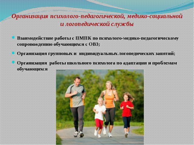 Организация психолого-педагогической, медико-социальной и логопедической служ...