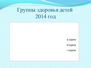 Группы здоровья детей 2014 год