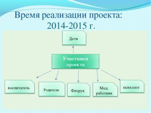 Время реализации проекта: 2014-2015 г.