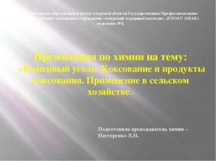 Министерство образования и науки Амурской области Государственное Профессиона