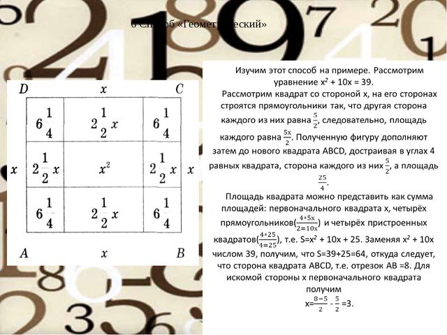 6 Способ «Геометрический»