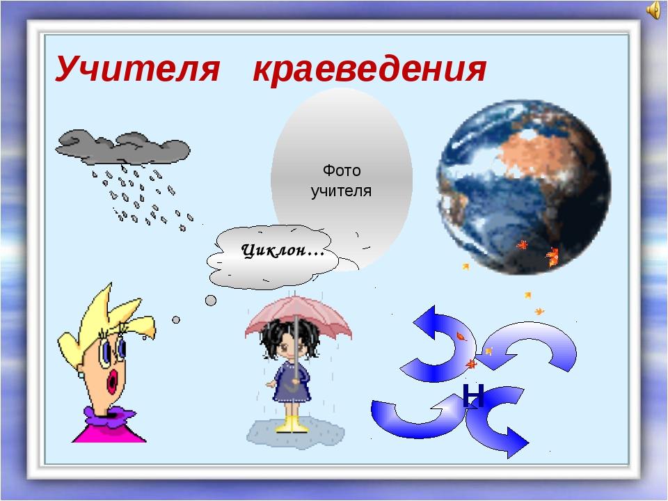 Учителя краеведения Фото учителя Циклон… Н