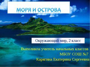 Выполнила учитель начальных классов МБОУ СОШ №7 Карягина Екатерина Сергеевна