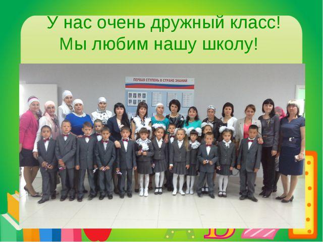 У нас очень дружный класс! Мы любим нашу школу!
