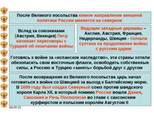 04.03.15 После Великого посольства южное направление внешней политики России