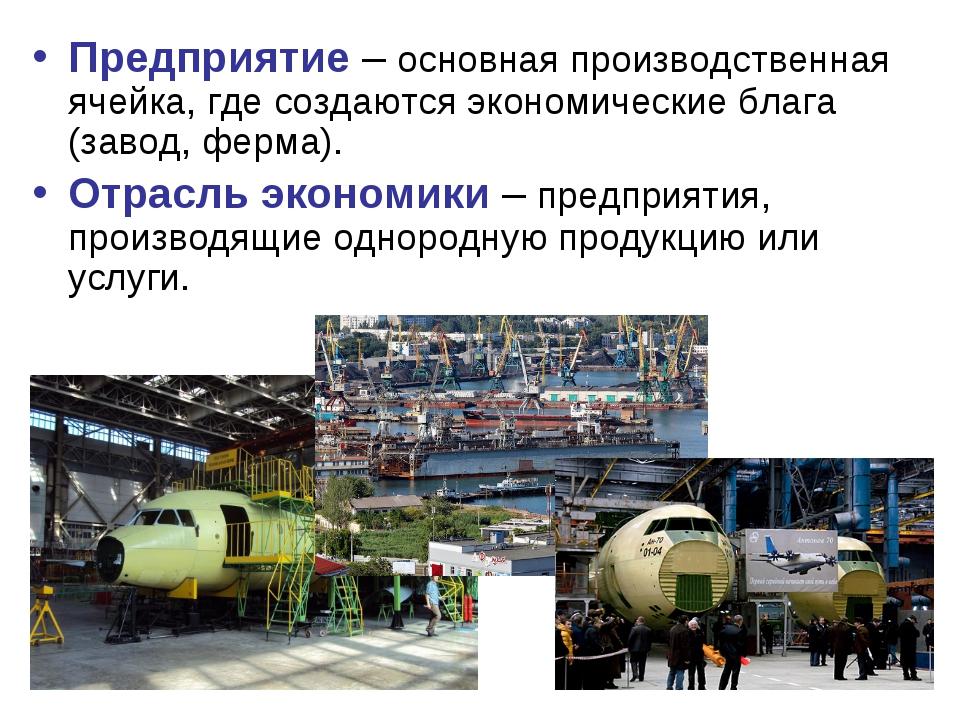 Предприятие – основная производственная ячейка, где создаются экономические б...