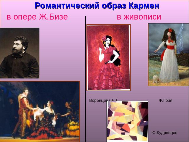 Романтический образ Кармен в опере Ж.Бизе в живописи Воронцова Е.Г. Ф.Гойя Ю...