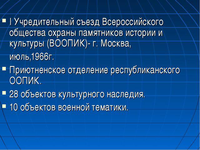 I Учредительный съезд Всероссийского общества охраны памятников истории и кул...