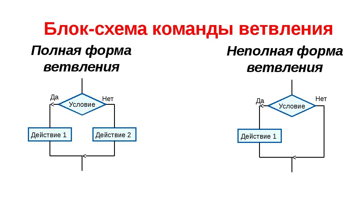 Светлана операторы ветвления в паскале схема время