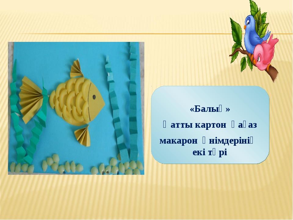 «Балық» Қатты картон қағаз макарон өнімдерінің екі түрі