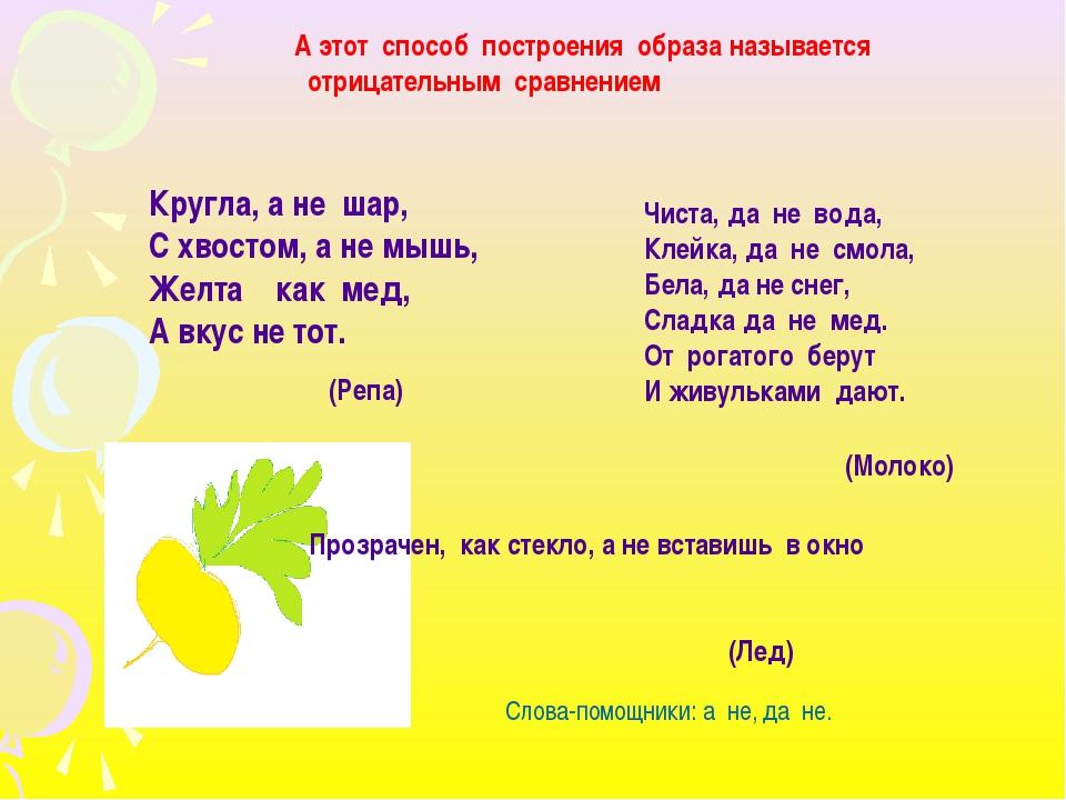 Кругла, а не шар, С хвостом, а не мышь, Желта как мед, А вкус не тот. (Репа)...