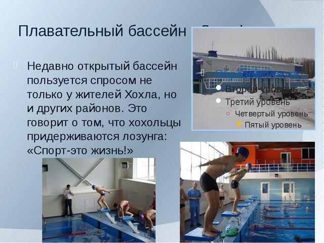 Плавательный бассейн «Дельфин» Недавно открытый бассейн пользуется спросом не...