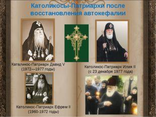 Католикосы-Патриархи после восстановления автокефалии Каталикос-Патриарх Дави