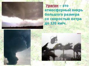 Ураган – это атмосферный вихрь большого размера со скоростью ветра до 120 км