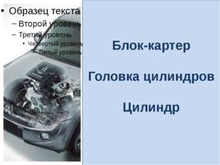 Блок-картер Головка цилиндров Цилиндр