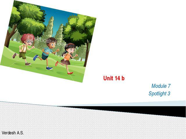 In the park Unit 14 b Module 7 Spotlight 3 Verdesh A.S.