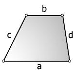 Площадь трапеции через четыре стороны