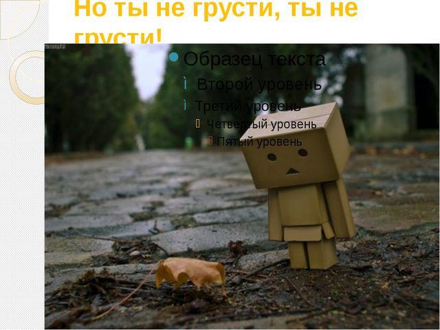 Но ты не грусти, ты не грусти!