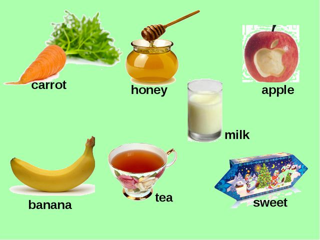honey tea carrot milk apple sweet banana