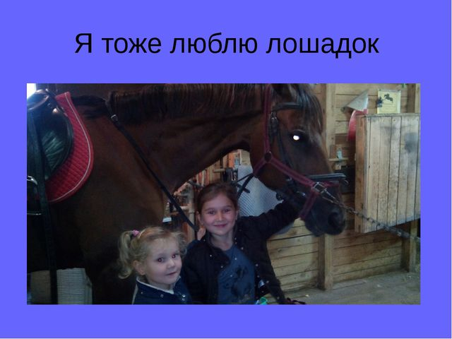 Я тоже люблю лошадок