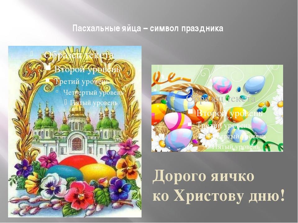 Пасхальные яйца – символ праздника Дорого яичко ко Христову дню!