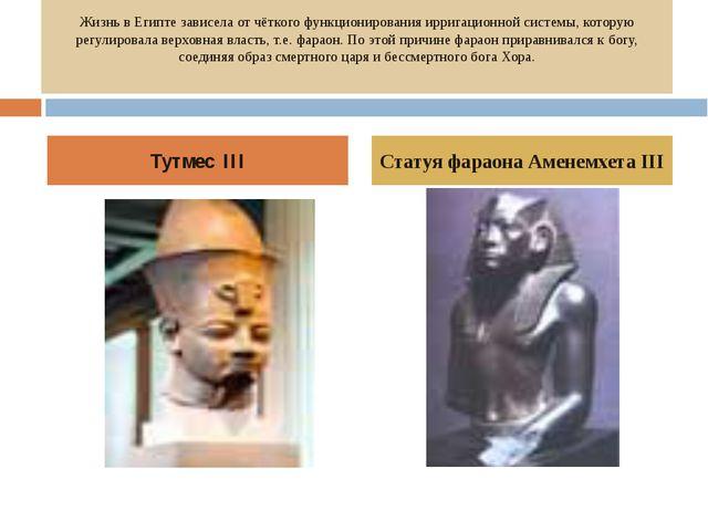 Жизнь в Египте зависела от чёткого функционирования ирригационной системы, ко...